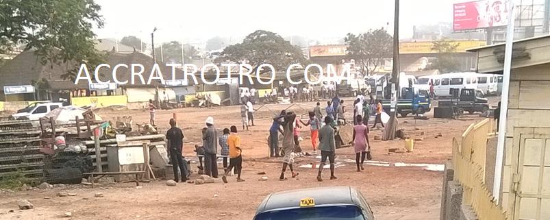 Obra spot trotro station evacuation Accra
