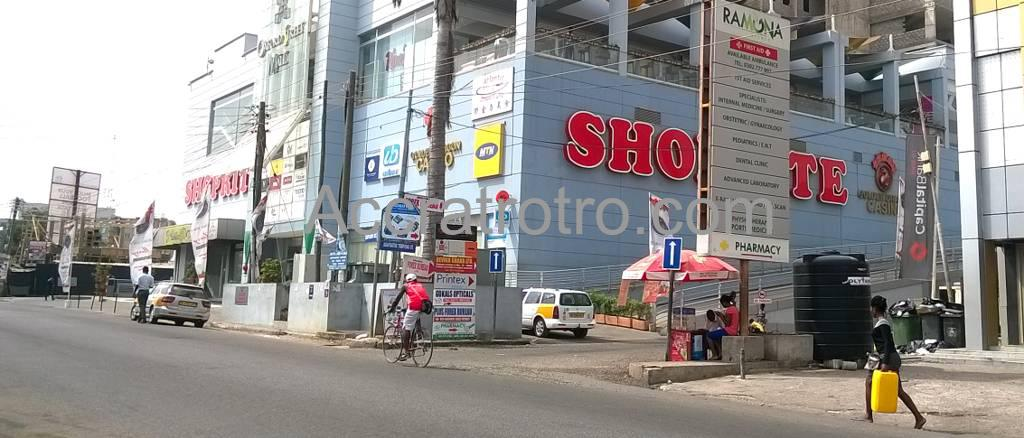Osu Oxford Street mall trotro bus stop. Accra trotro buses enroute to Tema station, Post Office and Bishop will pass through this route.